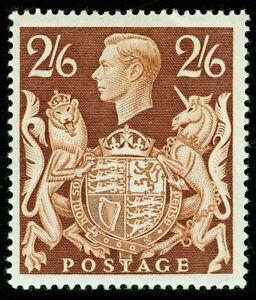 SG476, 2s 6d brown, M MINT. Cat £100.
