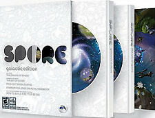 Spore Galactic Edition PC DVD (2008, Maxis/EA Games) w/ Book, Guide, Expansion.