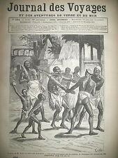 JOURNAL DES VOYAGES N° 284 GHANA ASHANTIS ADULTERE EXECUTION 1882
