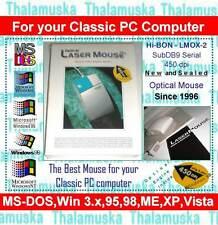 Hi-Bon Optical Mouse Raton 1996 New SERIE SERIAL DB9 PC XT AT DOS RS232 Win IBM