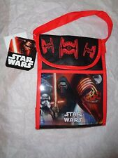 "Disney Star Wars FORCE AWAKENS  Insulated Lunch Bag w/Velcro Closure.  7"" X 10""."