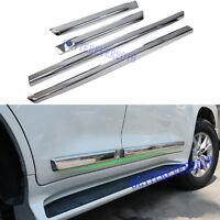Fits 2008-2020 Land Cruiser LC200 Chrome Body Side Door Molding Line Trim Decor