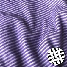 Polar Fleece Fabric Purple Stripes Extra Soft Double Brushed - Sold by the Meter