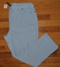 NWT Womens JUNE & DAISY Stretch Denim Capris Leggings Light Blue Color Medium