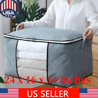 Foldable Home Closet Storage Bag Organizer Box Anti-bacterial Clothes Quilt US