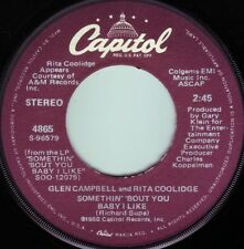 GLEN CAMPBELL & RITA COOLIDGE Somethin' 'Bout You Baby I Like ((**NEW 45**))