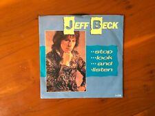 Jeff Beck Stop, Look & Listen 7 ins vinyl single Rare Nile Rodgers