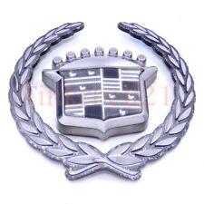 Cadillac Catera Eldorado Seville Grille Emblem Nameplate Oem Badge Crest Wreath(Fits: Cadillac Seville)