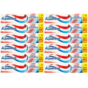 Aquafresh Triple Protection Toothpaste 125ml LARGE PACK 2 3 6 or 12 Packs