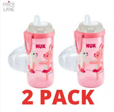 Baby Kids Toddler NUK Sports water Bottle/ Kiddy Cup 300ml 2 PACK Boy Girl