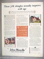 Johns-Manville Asbestos Roof Shingles PRINT AD - 1929