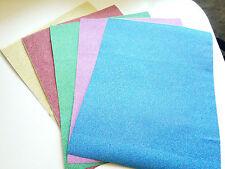 5 x A4 Self Adhesive Crafts Glitter Sign Vinyl Sticker Art Sheets Scrapbooking
