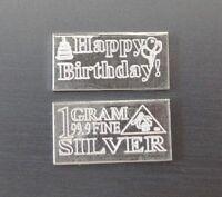 """1 Gramm Silberbarren """"Happy Birthday"""" 1g Silber Barren Geburtstag Geschenk NEU"""