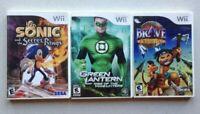 Wii Nintendo   Sonic Secret Rings - Green Lantern - Brave A Warrior's Tale