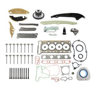For Audi VW 2.0 TSI Jetta Timing Chain Head Gasket Set Intake Exhaust Valves Kit