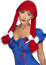 Womens Red Rag Doll Wig