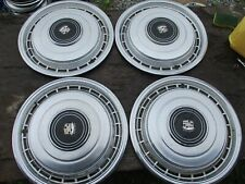 "GENTLY USED 1979 CADILLAC FLEETWOOD/DeVILLE 15 "" WHEELCOVER SET/FOUR NICE/SHARP"