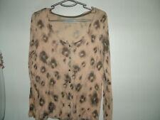 Pink Grey Cardigan 10 Zara lightweight, long sleeves, round neck, florals vgc