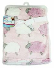 Boy /& Girl Soft Cozy Baby Embossed Blanket Fleece Milk White Warm