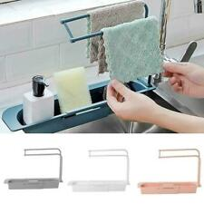 Telescopic Sink Rack Holder Expandable Storage Drain Basket for Kitchen Home Kit