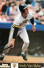 ANDY VAN SLYKE PITTSBURGH PIRATES 1989 SPORTS ILLUSTRATED POSTER