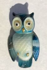 AWESOME REALISTIC JAPANESE ARITA PORCELAIN OWL BUTTON