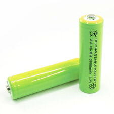 2 pc AA Cell 3000mAh Ni-MH Rechargeable Battery Green For CD player camera flash