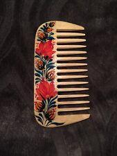 Brand New Hand-painted Traditional Ukrainian Petrykivka Wooden Comb
