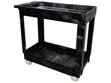 Rubbermaid Commercial 9T6600Bla Service/Utility Cart, 2-Shelf, 16w x 34d x 31-1/