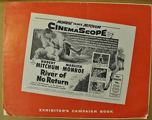 RIVER OF NO RETURN 1954 PRESSBOOK MARILYN MONROE ROBERT MITCHUM RORY CALHOUN