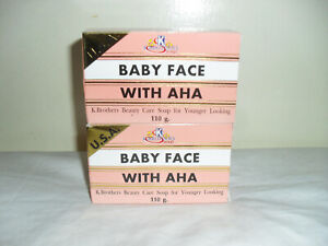 K BROTHERS U.S.A. BABY FACE WITH AHA LIGHTENING SOAP 110G X 2