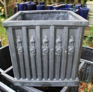 45cm Faux Lead Heritage Clayfibre Ornate Box Garden Planter Pot SALE