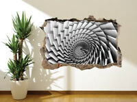 Cool 3D optical illusion swirl stone slabs wall sticker wall mural (55701603)