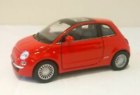 Fiat 500 Diecast Scale Model Car 1:38 - Red Collectors NEW