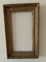 Antiques Wood Pictures Frame Gold Color 13.5x21.5 and 9.3x17.6 Inches Inside