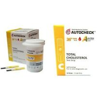 Autocheck Blood Cholesterol Test Strips Monitor Control Meter Monitoring Testing