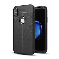 Ultra Thin Soft Gel TPU Leather Texture Skin Cover Case for Apple iPhone X | 10
