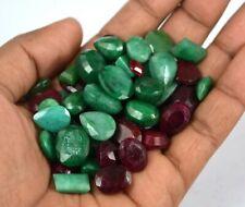 Rubin /& Saphir lose Edelstein viel natürliche Mischungsform 106 ct Smaragd