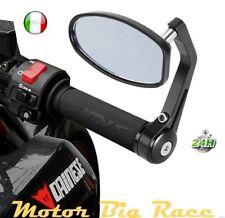 """7/8"""" Bar End Mirrors Retrovisori Specchietto Specchio Manubrio Moto Univers M153"""
