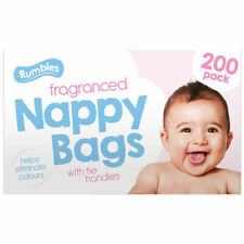 1200 (6x200) Disposabe Fragranced Nappy Bags With Tie Handles For Hygiene