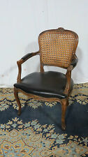 French Cane Desk Chair Designer Carved