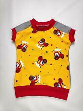 T-Shirt, gelb mit roten Traktoren Papageien