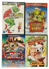 Christmas DVD's Lot Of 4 Shrek The Halls, The Flight Before Christmas, Grinch