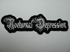NOCTURNAL DEPRESSION  SHAPED  LOGO  EMBROIDERED  PATCH