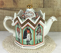 Vintage Sadler Battle of Waterloo Teapot Duke of Wellington & Soldiers