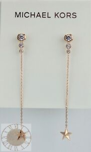 Michael Kors Earrings, Beyond Brilliant Celestial Rose Gold-Tone MKJ6729, New