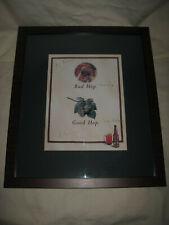 Jim Koch Signed On The Glass Sam Adams Brewery Good Hop Bad Hop Poster Framed