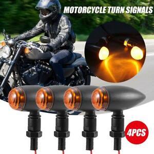 Motorcycle LED Bullet Amber Blinker Brake Running Turn Signals Tail Light 4 pcs