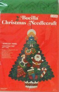 """#2120 BUCILLA VINTAGE & HARD TO FIND """"CHRISTMAS TREE"""" JEWELED PANEL KIT - NIP!"""