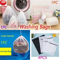 Clothes Washing Bag Mesh Wash Bag Lingerie Delicates Laundry Zipper 4 Styles AU